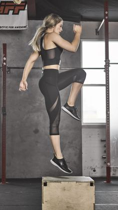 Whitney Simmons owning her workout in the Sleek Sculpture Cropped leggings. Back and better than ever before.