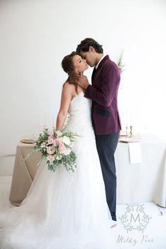 Stella White Beaded Corset Back Wedding Dress