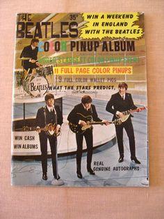 Original 1964 Sixties Beatles Color Pinup Album Magazine  John Paul George and Ringo on Etsy, $25.40 CAD