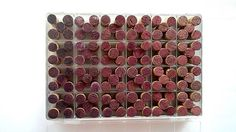 I love this picture of wine corks organized by color!