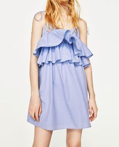 Image 3 of STRAPPY DRESS WITH FRILLS from Zara