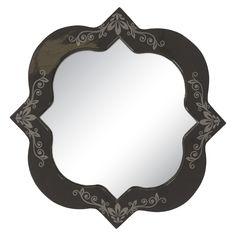 Aquila Wall Mirror - Navy, Gray, Grey