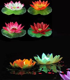 Novelty Lighting Led Solar Lotus Lantern Water Float Light Colorful Led Floating Flower Holiday Lamp For Yard Pond Garden Pool Night Light Jinle