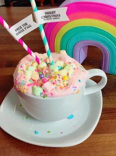 Unicorn Hot Chocolate Is The Magical Cold Weather Drink We've Been Waiting For+#refinery29