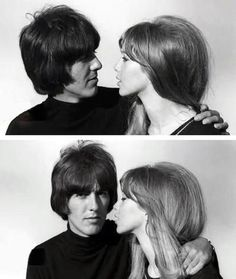 George Harrison & Pattie Boyd (this is adorable! Eric Clapton, Paul Mccartney, George Harrison Pattie Boyd, Patti Harrison, Something In The Way, Les Beatles, The Fab Four, Victoria, Ringo Starr