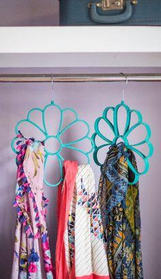 Flower scarf organizer #product_design