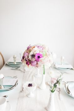 White washed with pops of pastels