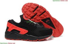 85f122518ca Nike Air Huarache Womens Running Shoes Black Red Cheap Sneakers