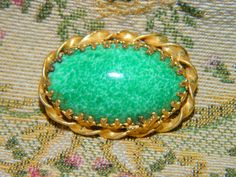 Vintage Green & Gold Brooch Saint Patricks Day by TheIDconnection