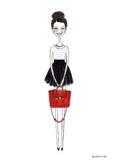 fashion illustration, diary sketches