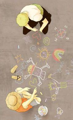 Please tell me Zoro drew that rainbow
