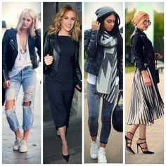 How to wear a Leather Jacket Leather Jacket, Shirt Dress, How To Wear, Jackets, Shirts, Dresses, Fashion, Studded Leather Jacket, Down Jackets