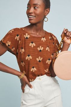 1696e2cb122dc Nikki Floral Top | Anthropologie New Outfits, Spring Outfits, Eva Franco,  Cute Tops