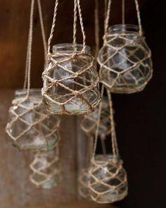 Bekijk 'Glazen potten macramé touw' op Woontrendz ♥ Dagelijks woontrends ontdekken en wooninspiratie opdoen!
