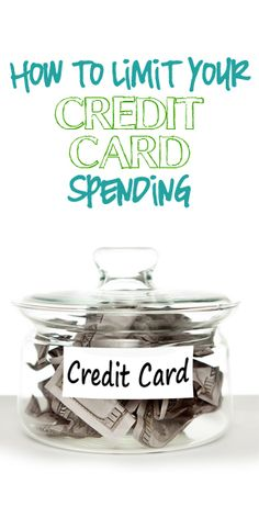 How to limit credit card spending