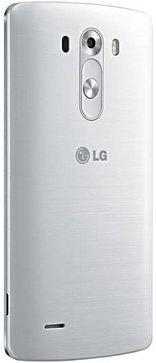 White LG G3 - rear view, back panel.  For the best contract prices visit: https://www.phonesltd.co.uk/LG/G3_Silk_White_Deals.html #LGG3White #G3White