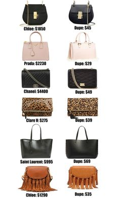 c77496cb1b7a Fashion blogger Mash Elle shares the ULTIMATE designer bag dupe guide! Over  20+ of