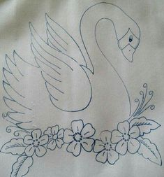 Digital PDF Hand Embroidery Pattern 626 Busy Birds for Week Day Dish Towels Mon wash Tues ironing Wed sewing Thurs Veggies Fri clean Embroidery Art, Drawings, Paint Designs, Fabric Painting, Flower Drawing, Coloring Pages, Redwork Embroidery