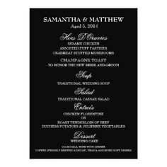 Menu Card Template  Rococo Design  Menu Templates Wedding Menu
