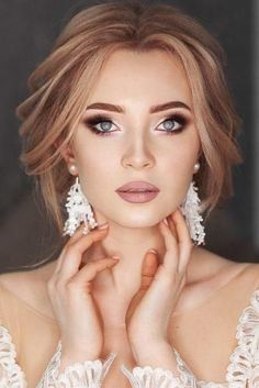 Soft Wedding Makeup Inspiring Ideas ❤︎ Wedding planning ideas & inspiration. Wedding dresses, decor, and lots more. #weddingideas #wedding #bridal