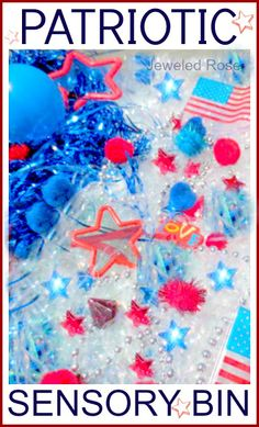 Patriotic 4th of July Sensory Bin for Kids