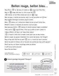 Ballon rouge, ballon bleu : une histoire en texte et en images pour enfant de 1 à 5 ans. Téléchargez et imprimez le conte. #enfant #conte