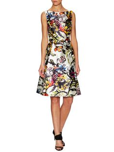 Floral Belted Fit and Flare Dress