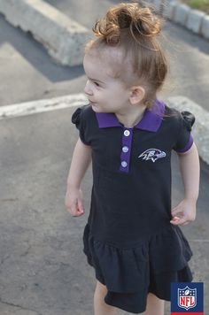This Baltimore Ravens dress can be worn for play dates or game days! (via Courtney's Sweets) #NFLFanStyle #Contest