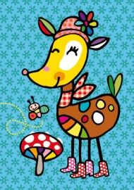 Wenskaart 3 Painting For Kids, Drawing For Kids, Art For Kids, Cute Cartoon Images, Animal Doodles, India Art, Art N Craft, Baby Art, Cute Illustration