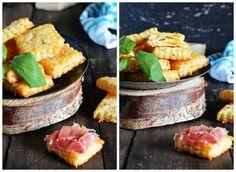 Galletas saladas de Parmesano y albahaca