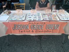 hand-painted banner... again, LOVE. {craft booth setup}
