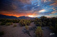 Sunset Rush | A dramatic sunset over the Yosemite mountains
