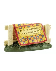 Serve the Lord Quilt on Fence  $11.99