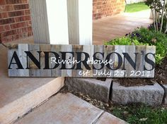 Personalized LARGE Family Name Sign LOVE!!!!