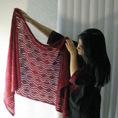 Stunning Feather-Light Stole | AllFreeKnitting.com