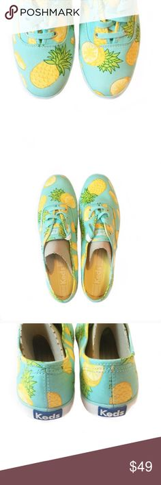 // NIB • P i n e a p p l e • K e d s • Sz 8.5 // ** NEW ** Pineapple Keds Sz 8.5                         Price is Firm! Keds Shoes Sneakers