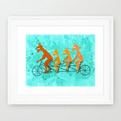 Father's Day Ride  Framed Art Print