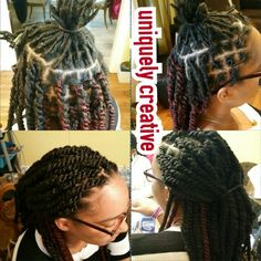 Marley twists over starter locs. Protective styling