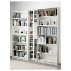 from 110 gbp IKEA - BILLY / GNEDBY, Bookcase, white, , Adjustable shelves; adapt space between shelves according to your needs. Ikea Billy Bookcase White, White Bookshelves, Ikea Bookcase, Painted Bookcases, At Home Furniture Store, Modern Home Furniture, Billy Regal, Narrow Shelves, Hemnes