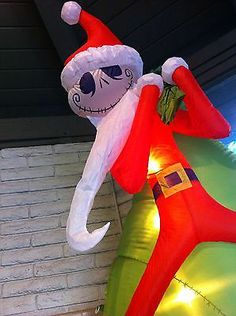 rare santa jack skellington 8 inflatable airblown nightmare before christmas ebay