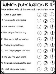Different Types of Sentences - No Prep! by Shining and Climbing in First Different Types Of Sentences, Types Of Sentences Worksheet, Punctuation Worksheets, English Worksheets For Kids, School Worksheets, Teaching Sight Words, Teaching Grammar, Sentence Anchor Chart, English Grammar For Kids