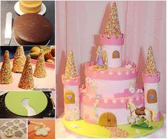 Wonderful DIY Amazing Princess Castle Cake