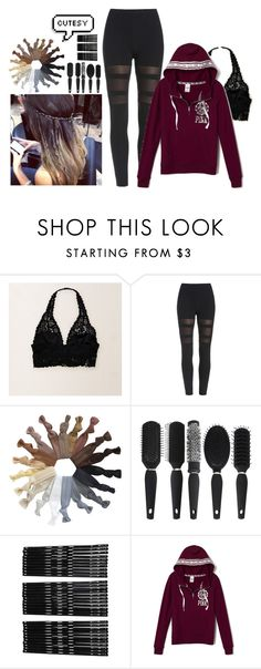 """""""161. Not sure I like.. but Paranormal Activity 4 was on"""" by sassyomg ❤ liked on Polyvore featuring Aerie and Monki"""