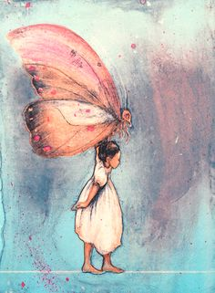 Gro Mukta Holter - Flora's secret Book Illustration, Illustrations, Graphic Prints, Childrens Books, Art Drawings, Flora, Butterfly, Fine Art, Artwork