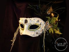 Altered Masquerade Mask  by Angela Holt's Design, via Flickr http://www.angelaholtdesigns.com