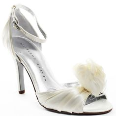 Wedding Shoes #wedding_shoes Heels I Love #heels #wedding #shoes #high_heels #white #love   Brit Heel - Ivory Satin, Martinez Valero