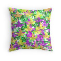 Autumn Maple (Fall) Leaves throw pillow by Tracey Lee Art Designs