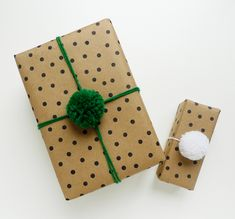 Did you happen to see this great pom-pom wrapping DIY project floating around Pinterest? Shauna and Stephen from Something's Hiding in Here had a similar idea a while back too. I was inspired…