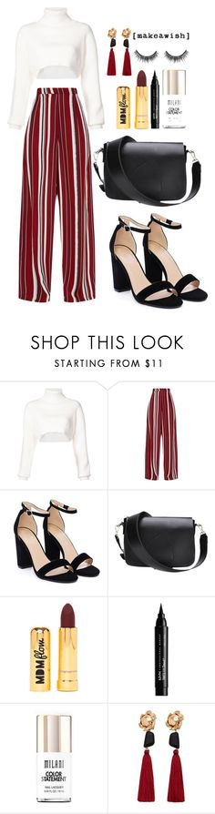 """HeyHeyHey"" by ines-lynch ❤ liked on Polyvore featuring Alexandre Vauthier, Nasty Gal, NYX, Milani and MANGO"