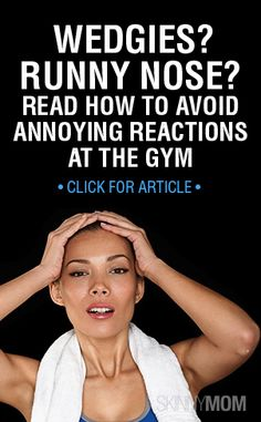 Runny nose! grr....Are you constantly having annoying reactions at the gym? Read here how to avoid them!